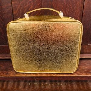 NWT Vintage Este Lauder Cosmetic Case Gold